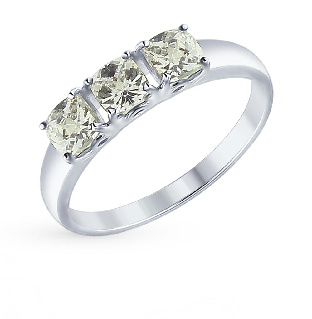 серебряное кольцо с фианитами SOKOLOV 89010063
