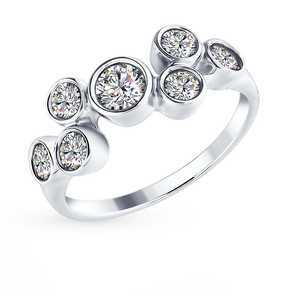 серебряное кольцо с фианитами SOKOLOV 94012398