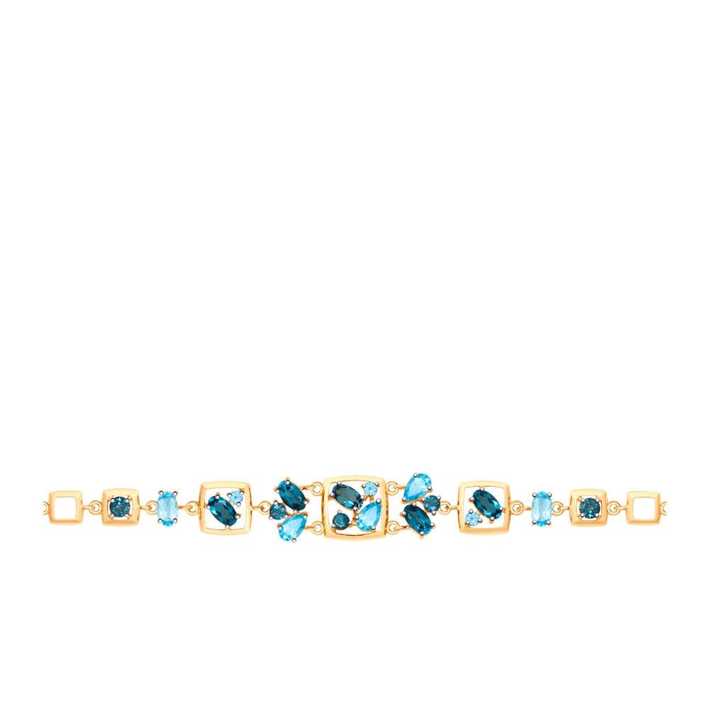 золотой браслет с топазами SOKOLOV 750289*