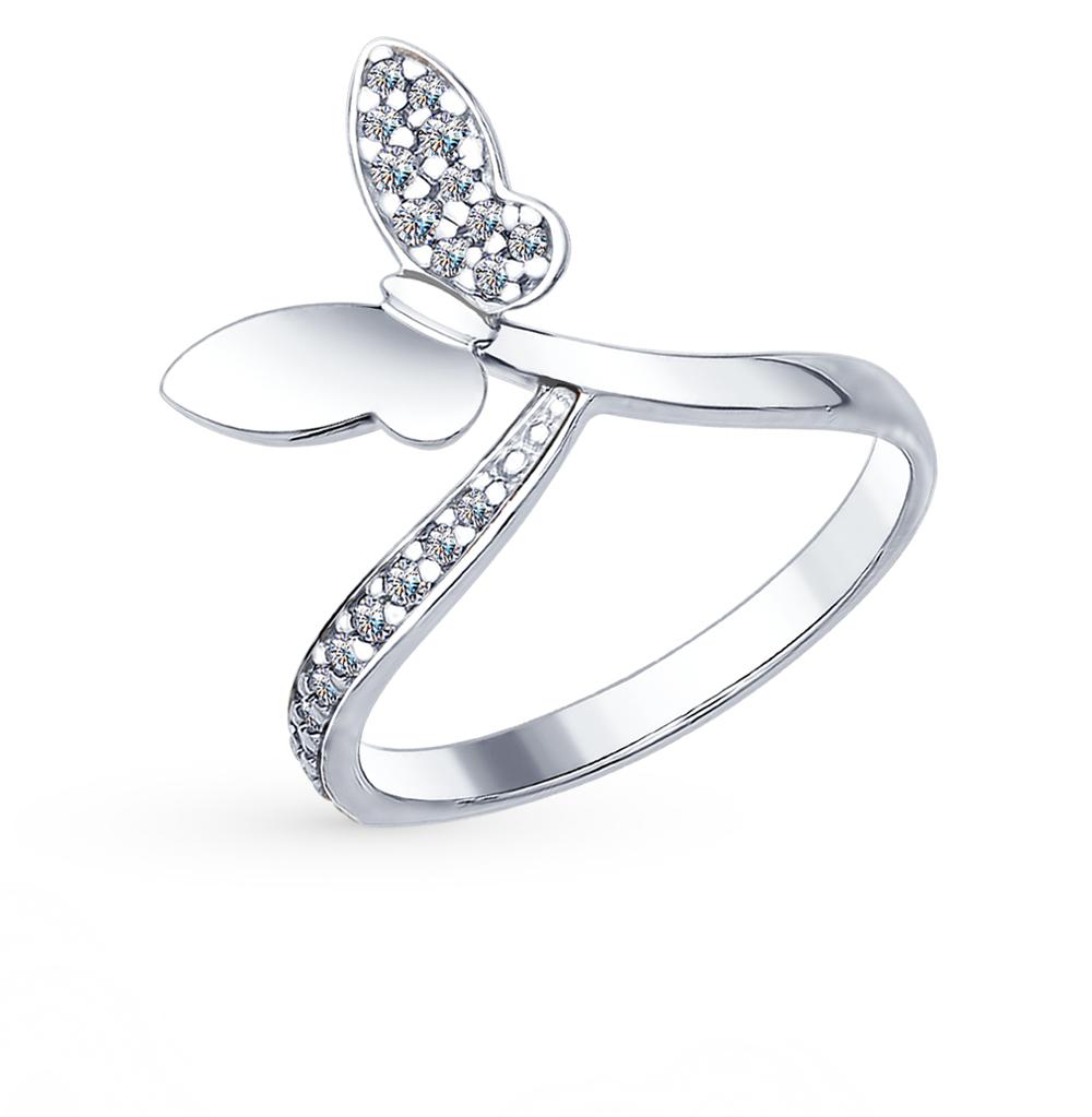 серебряное кольцо с фианитами SOKOLOV 94012416