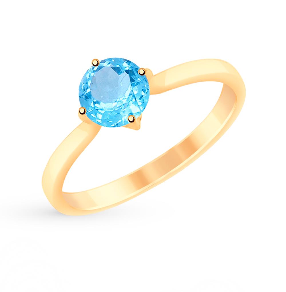 Золотое кольцо с топазами SOKOLOV 715089* в Санкт-Петербурге