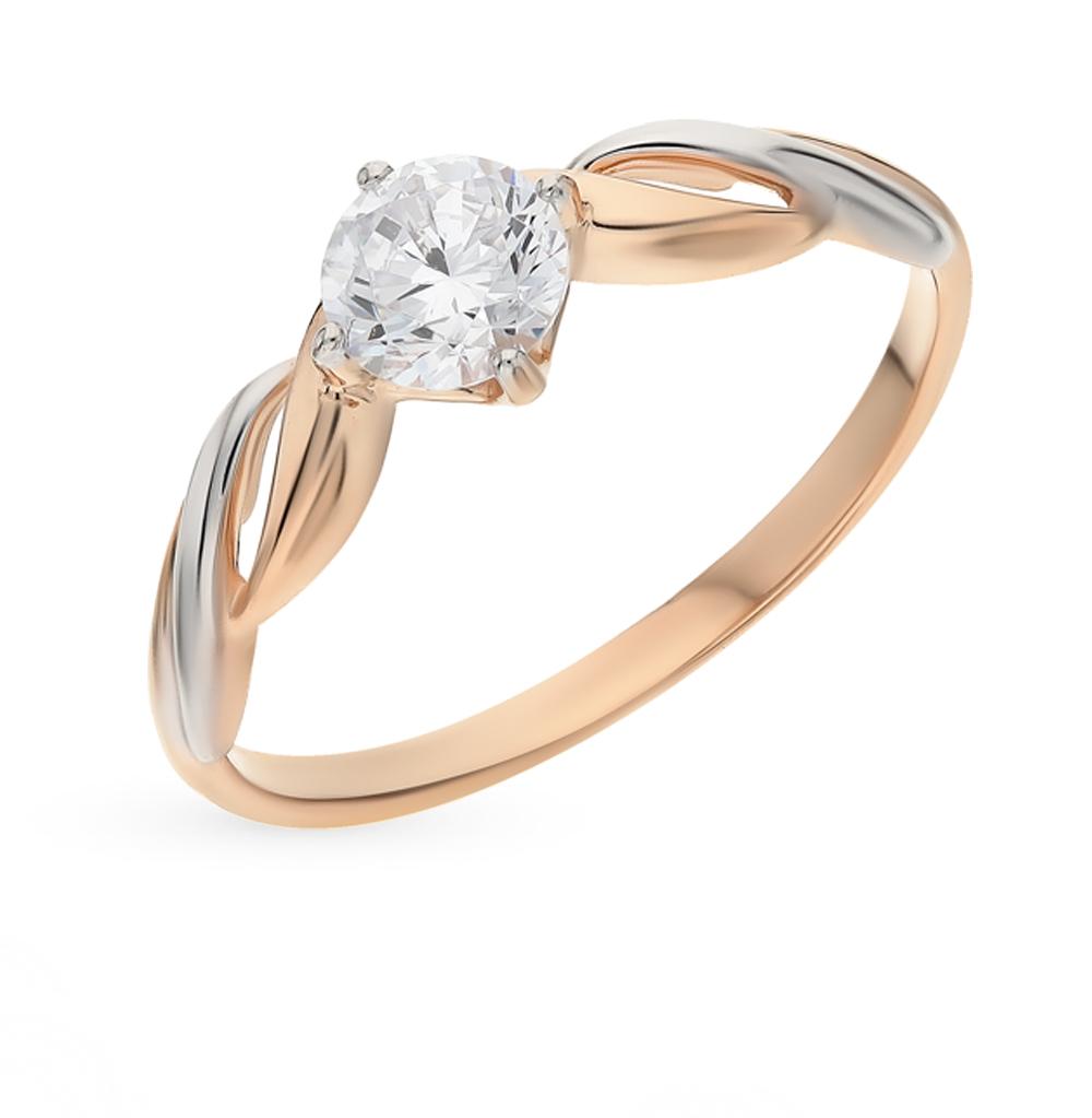золотое кольцо с фианитами SOKOLOV 017436*