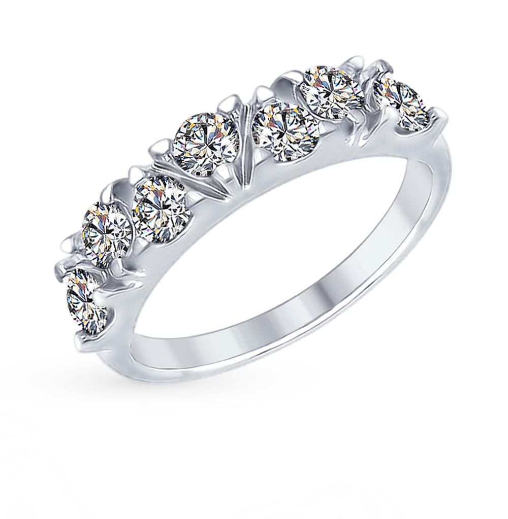 серебряное кольцо с фианитами SOKOLOV 94012356