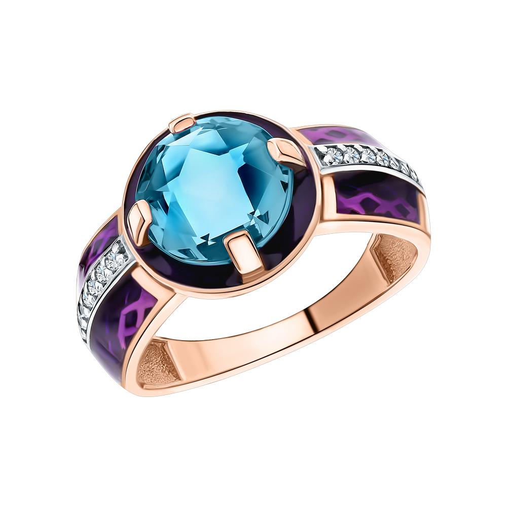 Фото «Серебряное кольцо с алекситом, фианитами и эмалью»