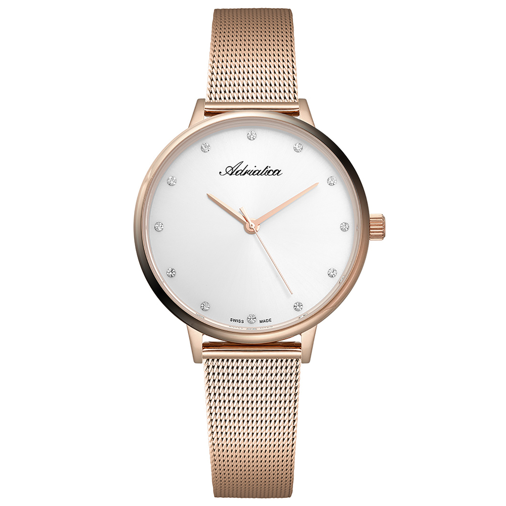 Женские часы A3573.9143Q на стальном браслете с розовым PVD покрытием с минеральным стеклом