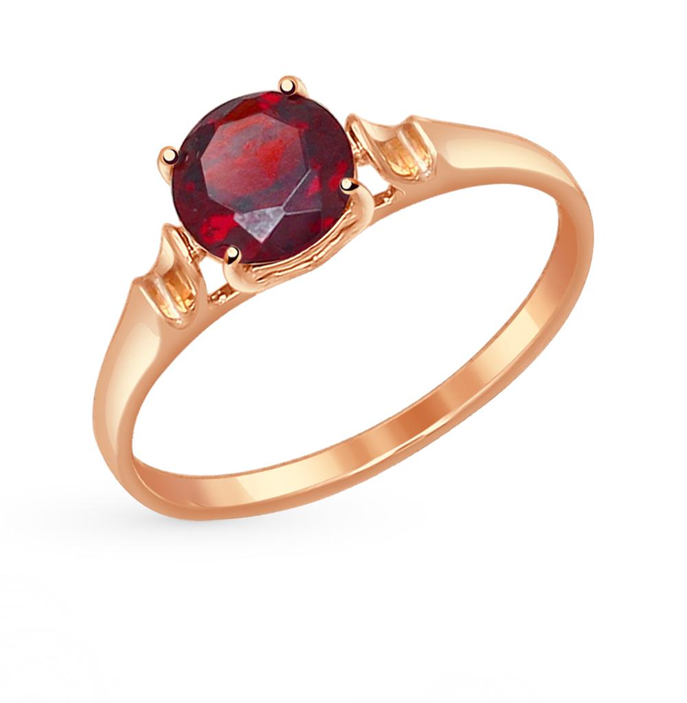 золотое кольцо с гранатом SOKOLOV 714489*