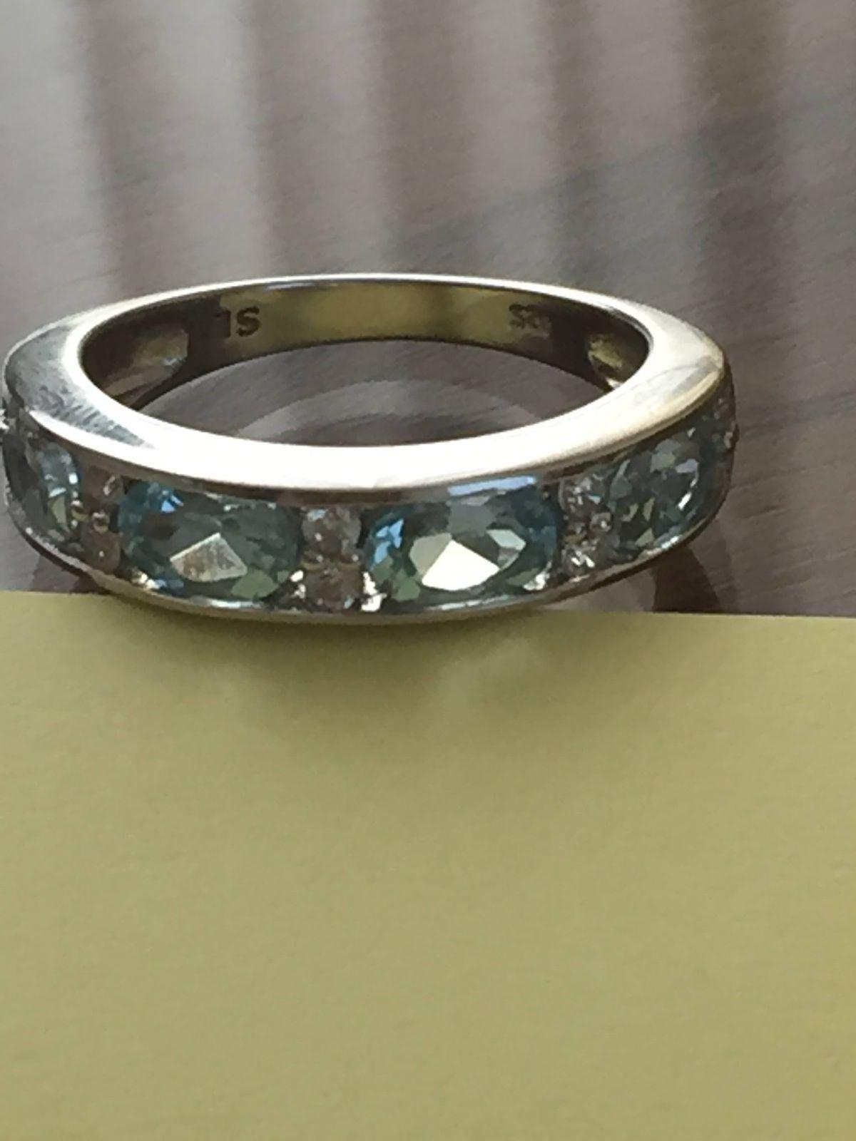 Вчера приобрела это чудное колечко из серебра   , с голубыми топазом!!!