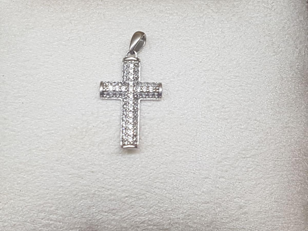 Серебряный крестик(декоративный)