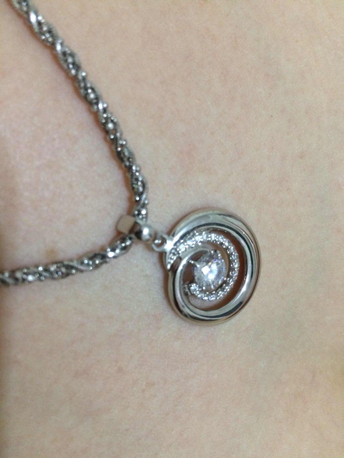 Серебрянная цепочка с эфектом камней
