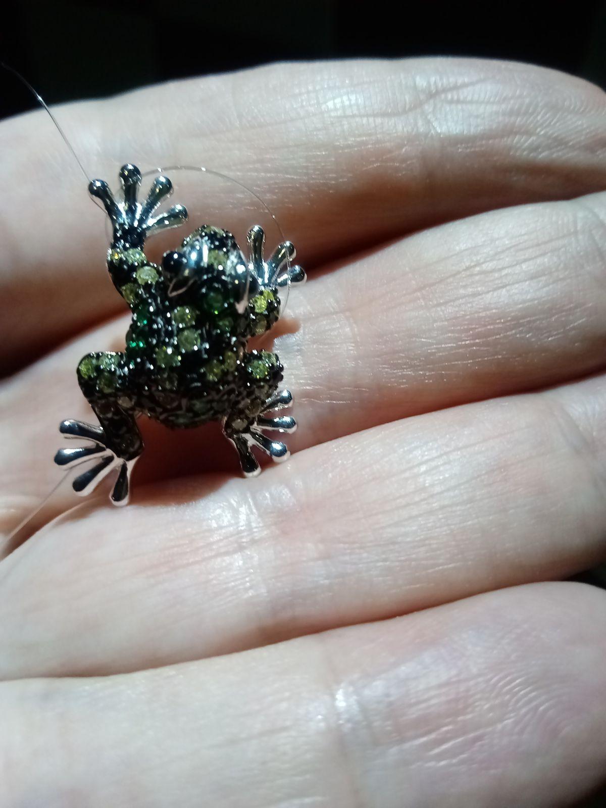 Брошь - подвеска лягушка