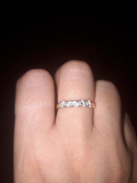 Золотое кольцо с фианитами(Соколов)