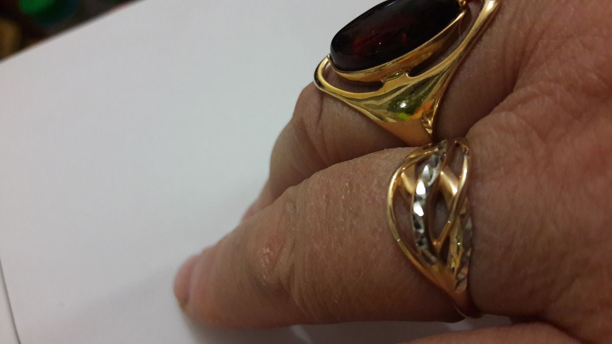 Золотое колечко с алмазной насечкой