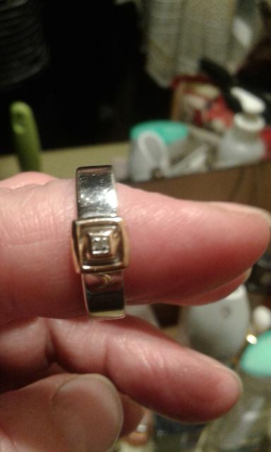Серебро с золотом и бриллиантом