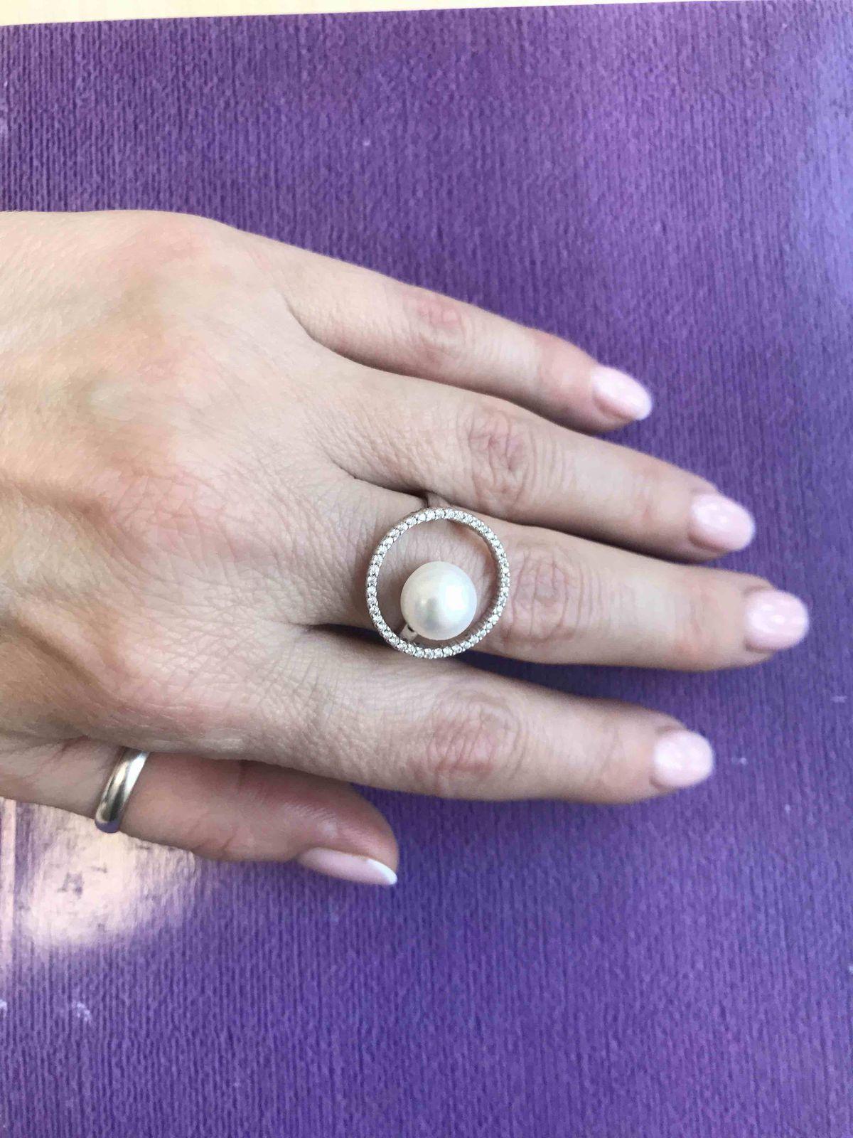 Мечта о серебряном кольце с жемчугом исполнена