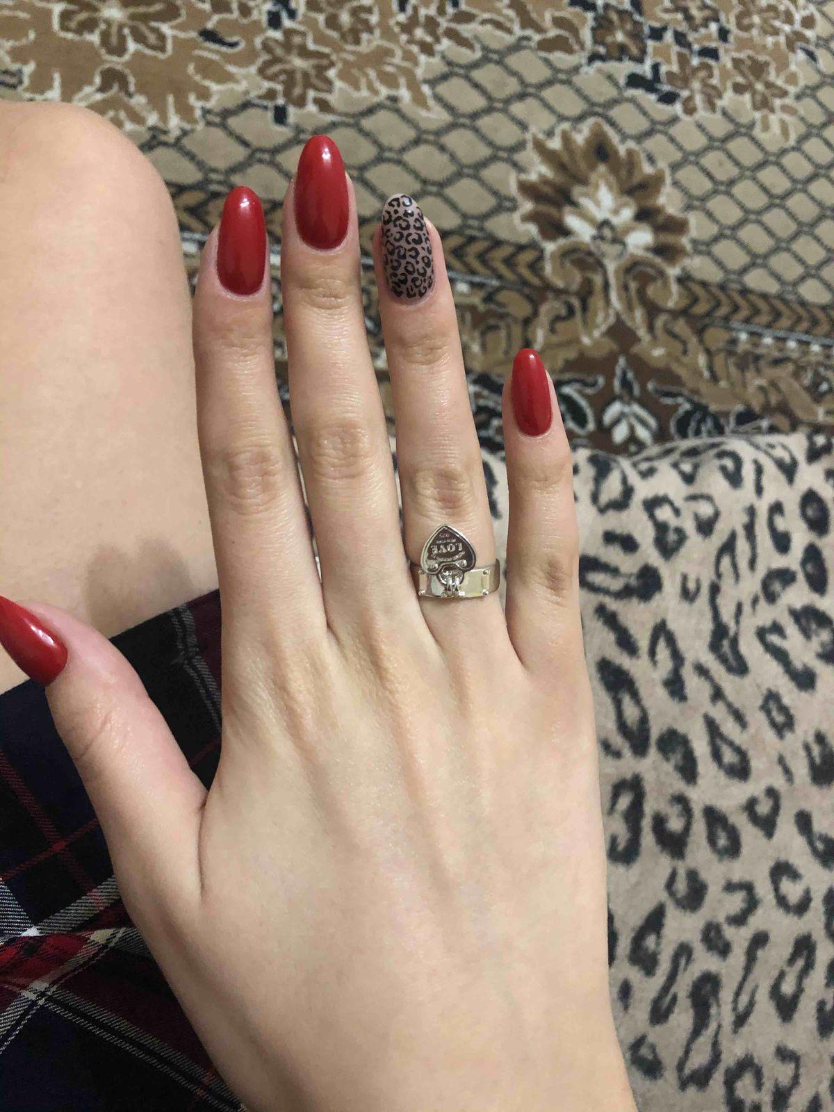 Серебрянное кольцо с сердцем