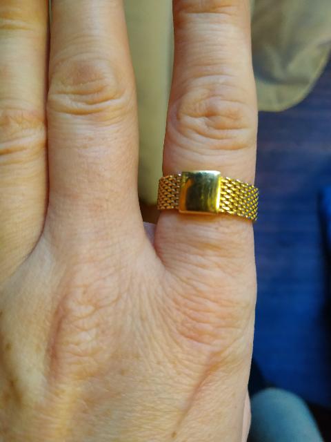 Кольцо цепочка