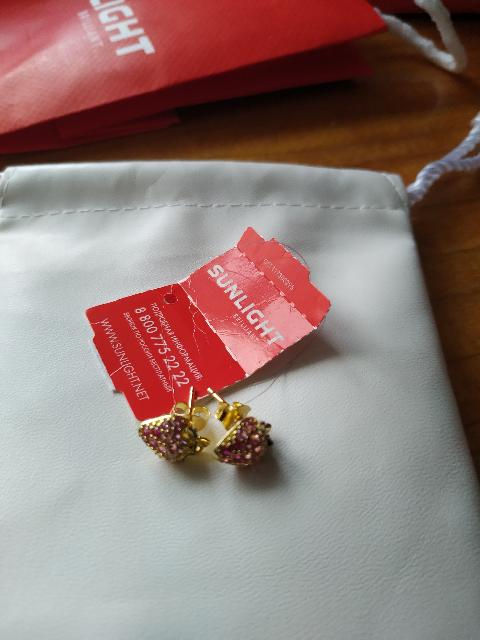 Сережки в подарок