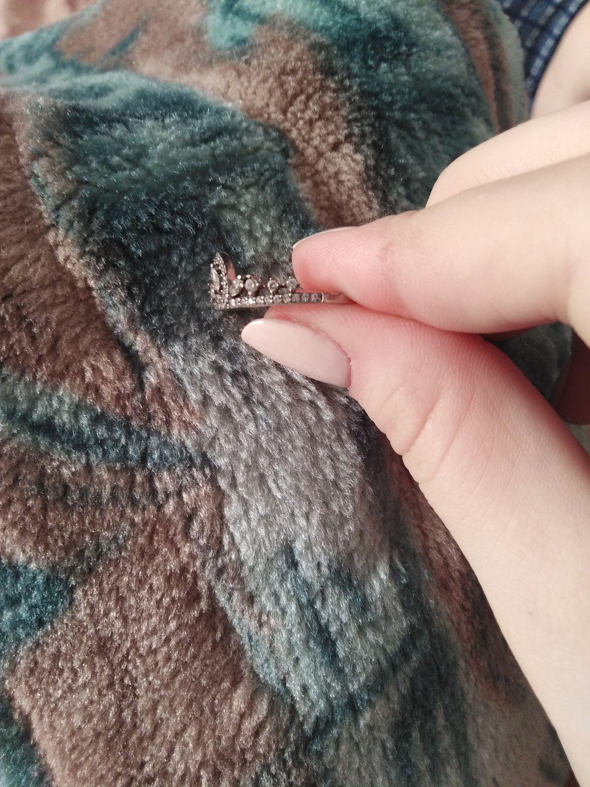 """Серебряное кольцо с фианитами """"Корона"""""""