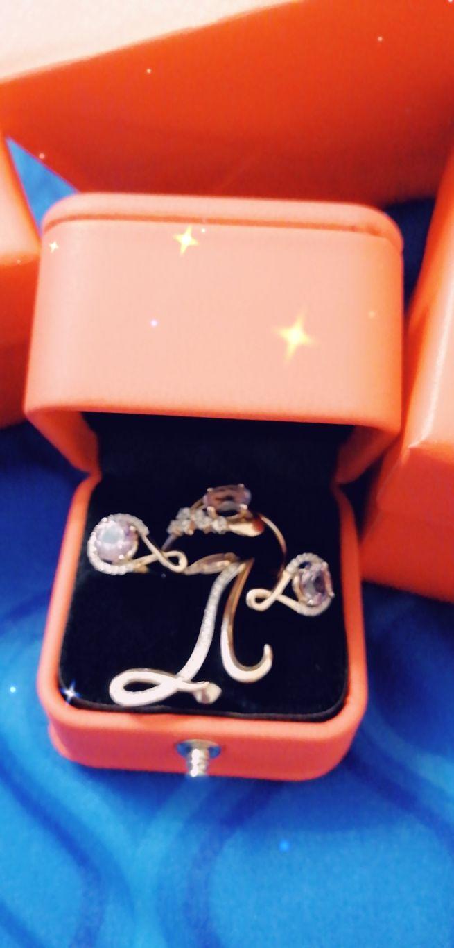Кольцо с камнем аметист