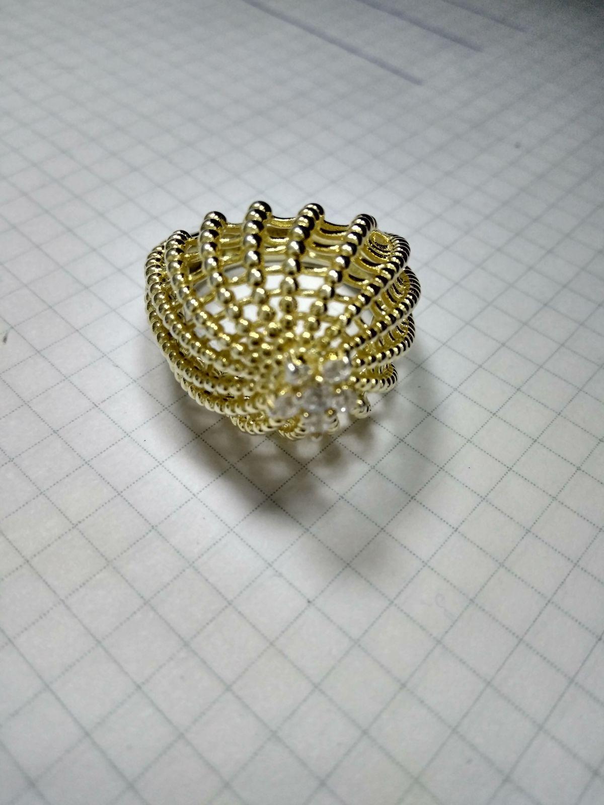 Кольцо кактус