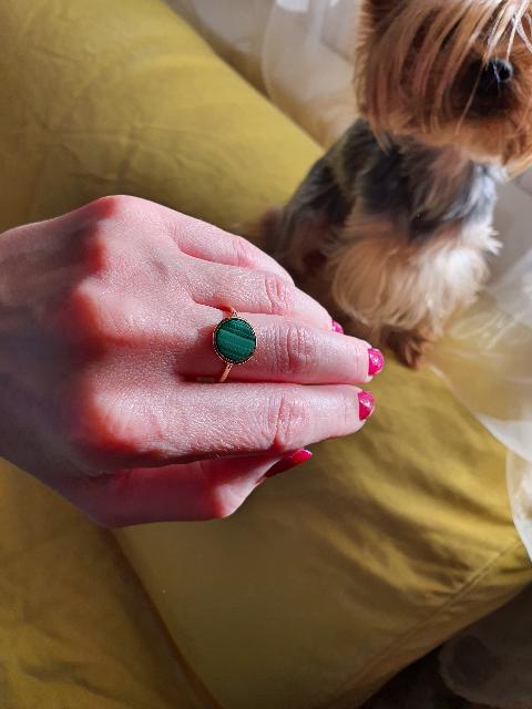 Кольцо с малахитом зачёт