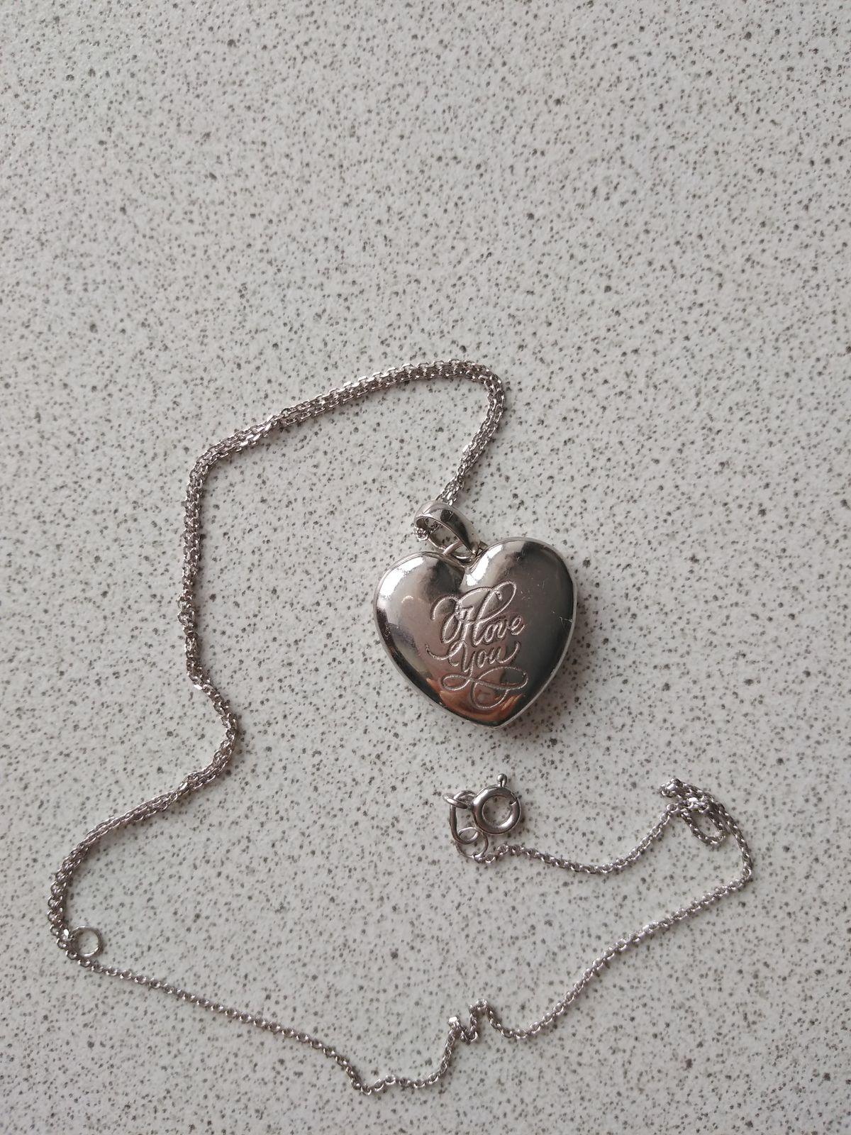Чудесное открывающееся серебряное сердце