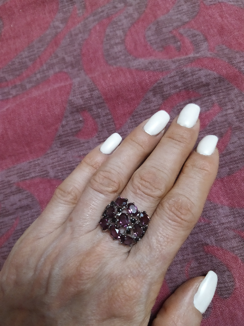 Серебряное кольцо и серьги с фианитами и кристаллами Swarovski