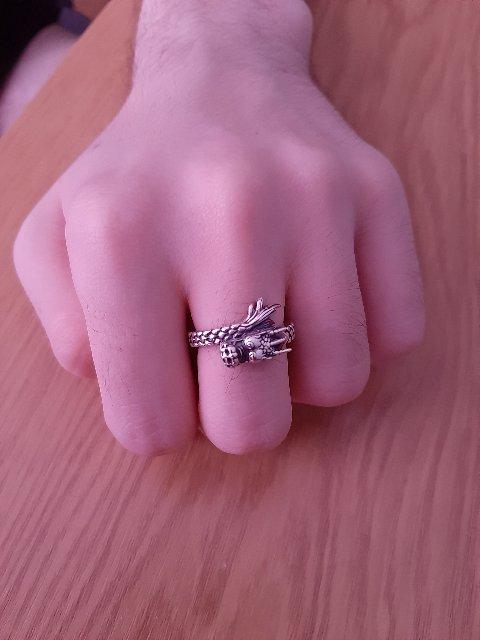 Кольцо с китайским драконом