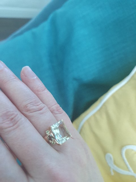 Комплект кольцо и серьги с аметистами!