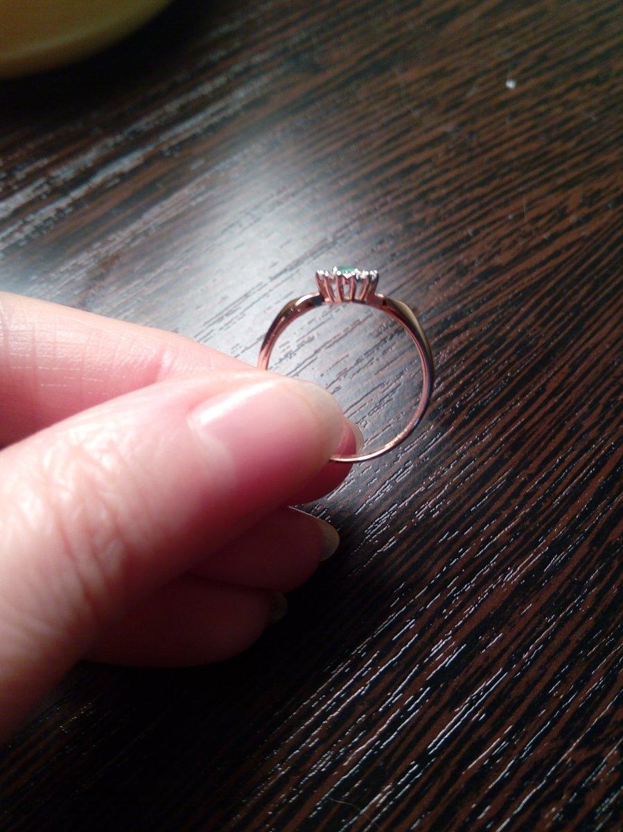 Кольцо с изумрудиком и бриллиантами!