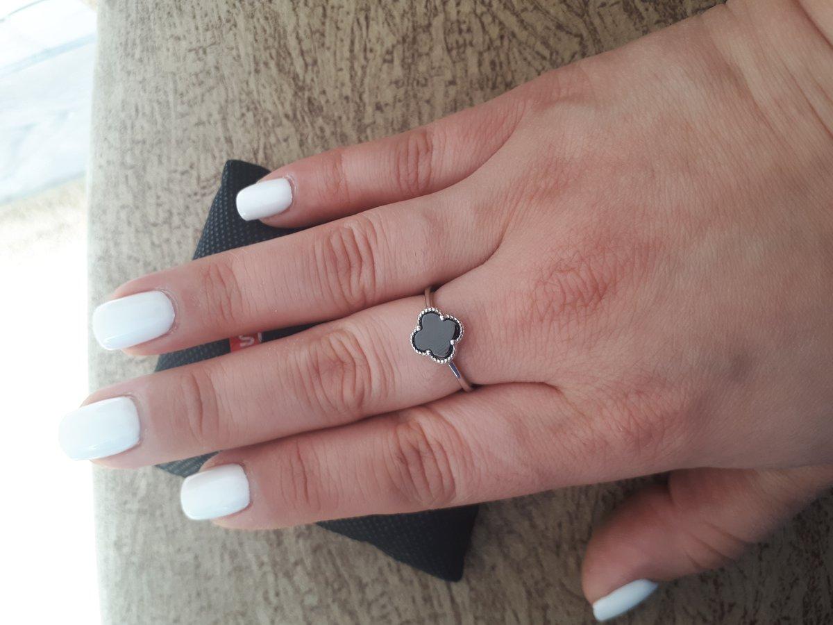 Кольцо четырехлистник