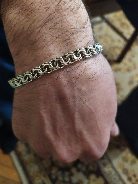 Серебряный браслет.