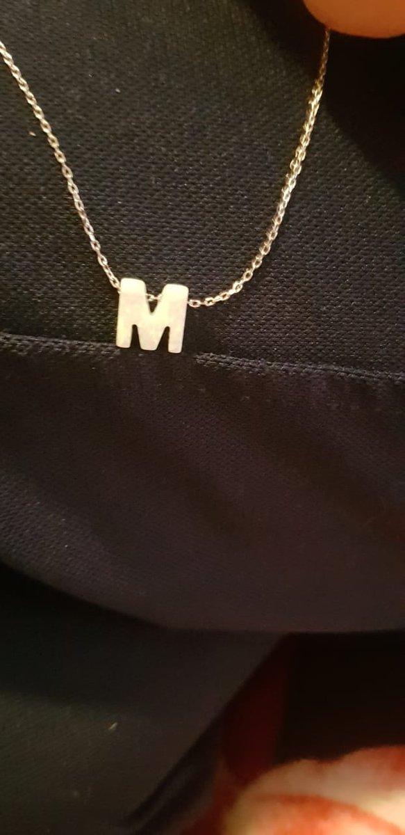 """Подвеска буквой """"М""""с опалом"""