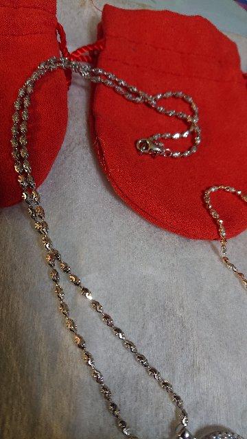 Цепочка серебро с алмазной огранкой