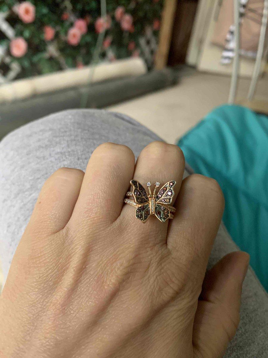 Колечко бабочка