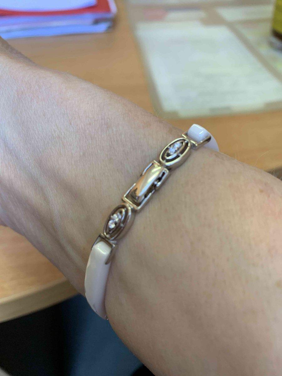 Серебренный браслет с керамическими вставками