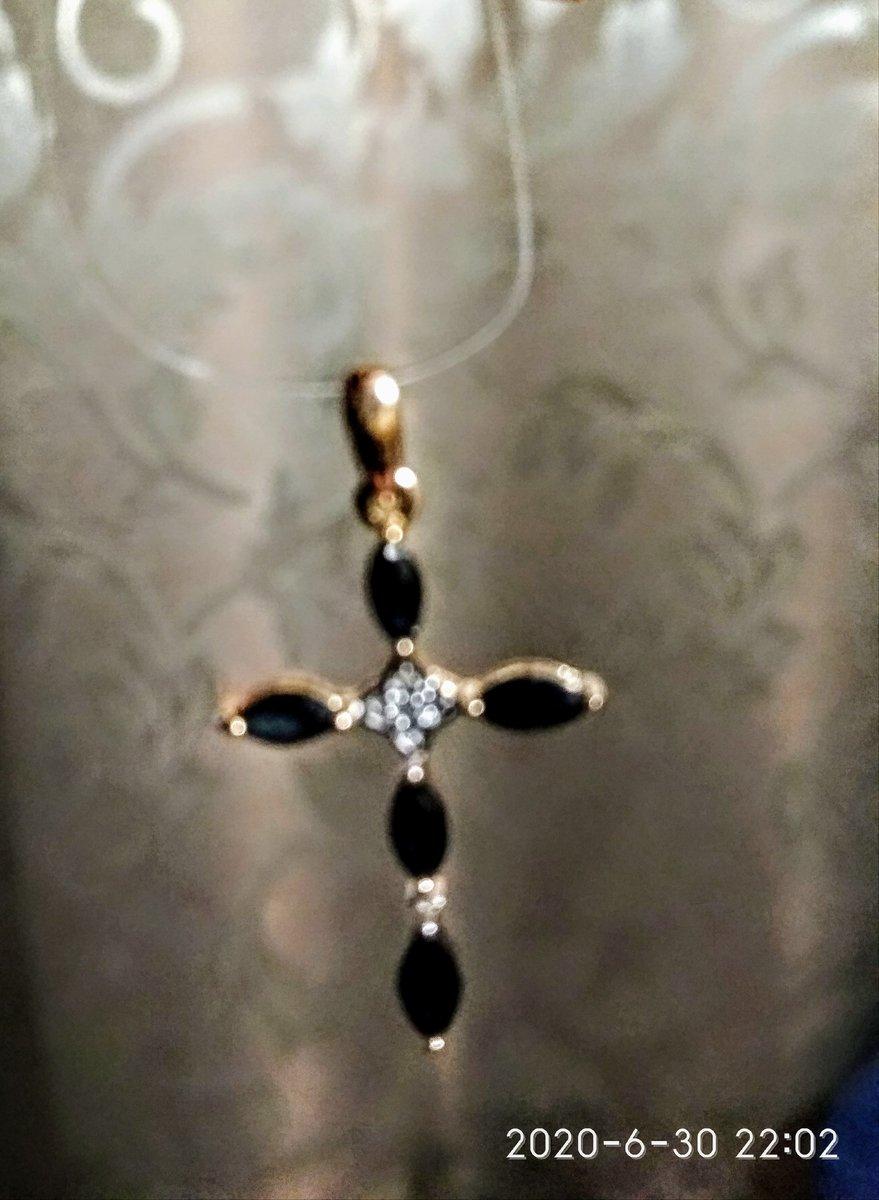 Сапфировый крестик