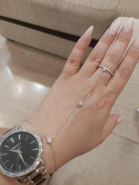 Оригинальный браслет с кольцом