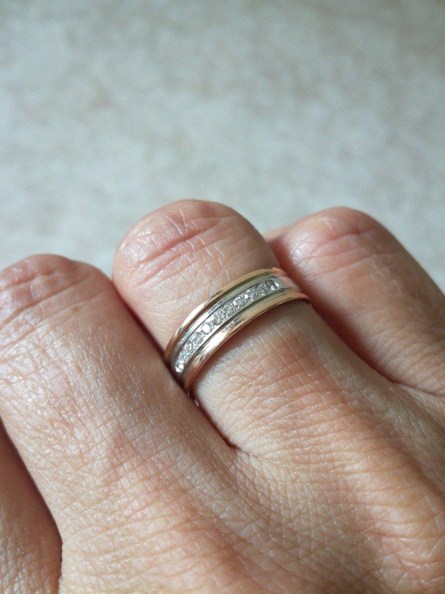 Кольцо  обручальноес бриллиантами