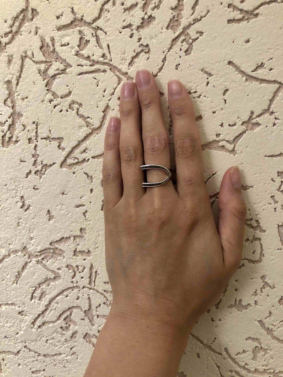 Серебряное геометрическое кольцо