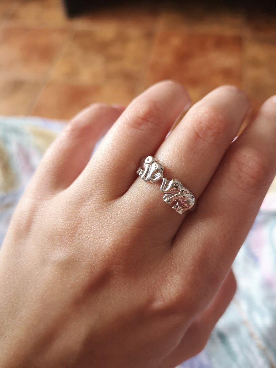 Отличное кольцо со слониками