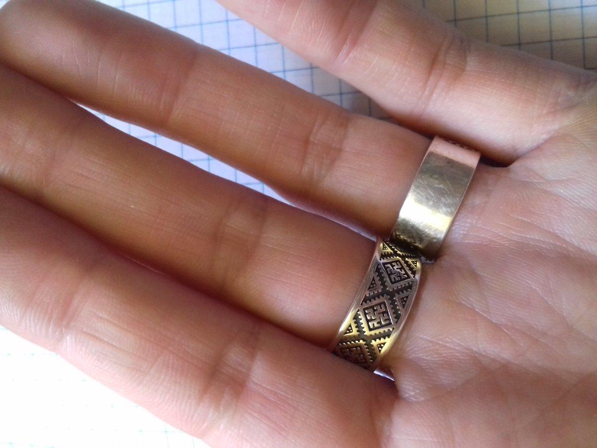 Колечко с символом одоленьтрава