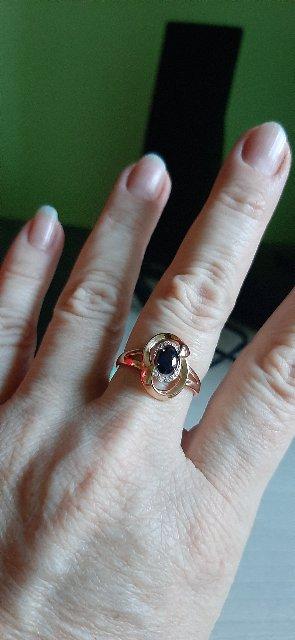 Кольцо с сапфиром к Дню Рождения