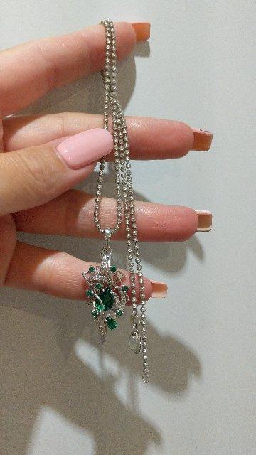 Цепь-шарики с алмазными гранями