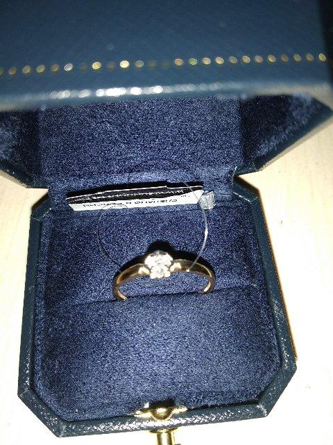 Золотое кольцо с бриллиантами(якутия)