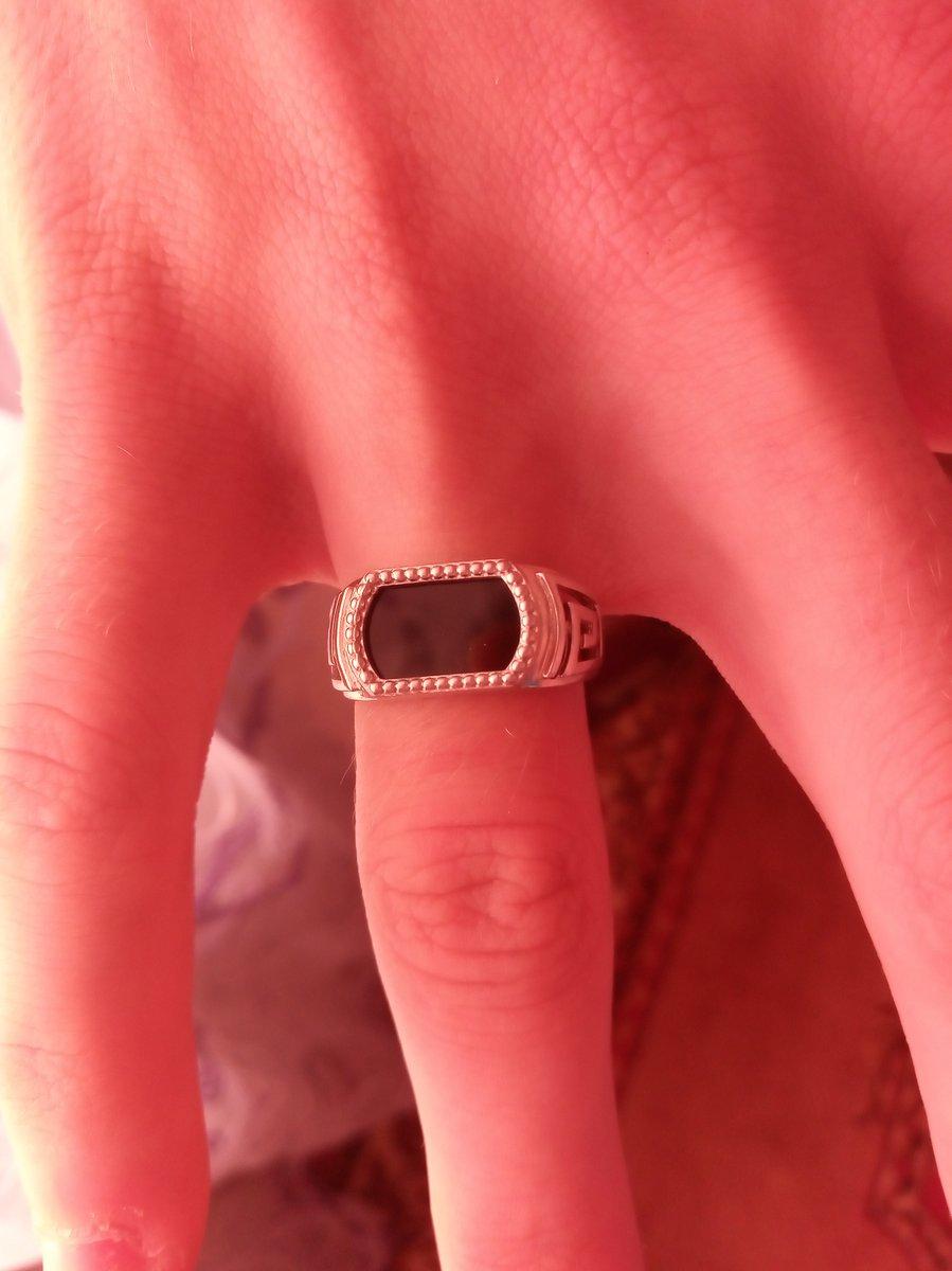Мужской кольцо с фианитами