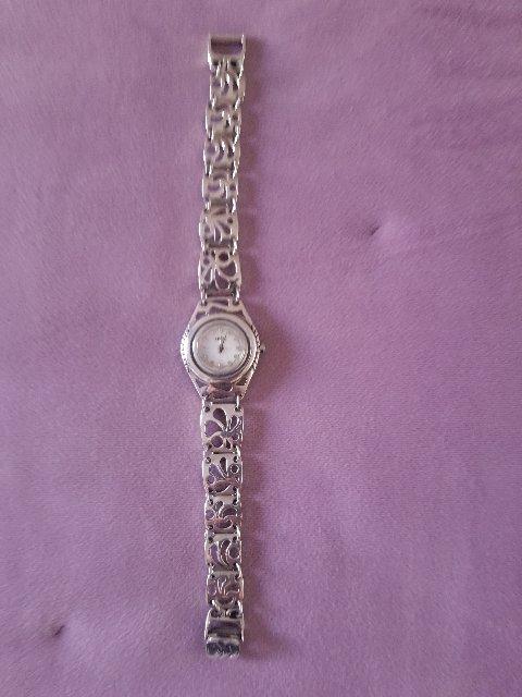 Серебряные часы-браслет