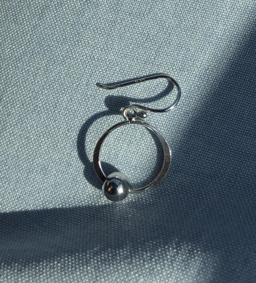 Серебряные серьги «шарик на нитке»