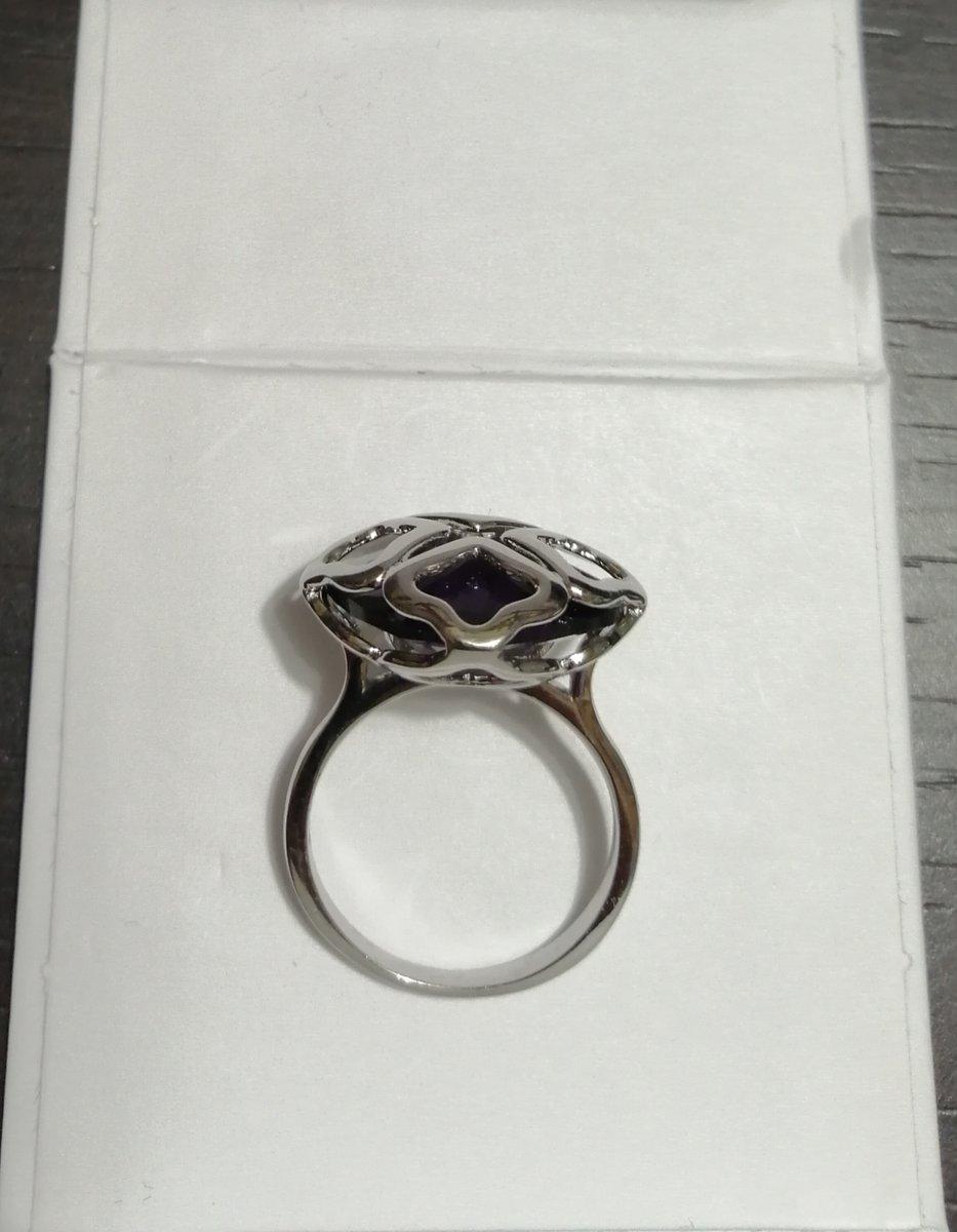 Кольцо с фиолетовым алпанитом
