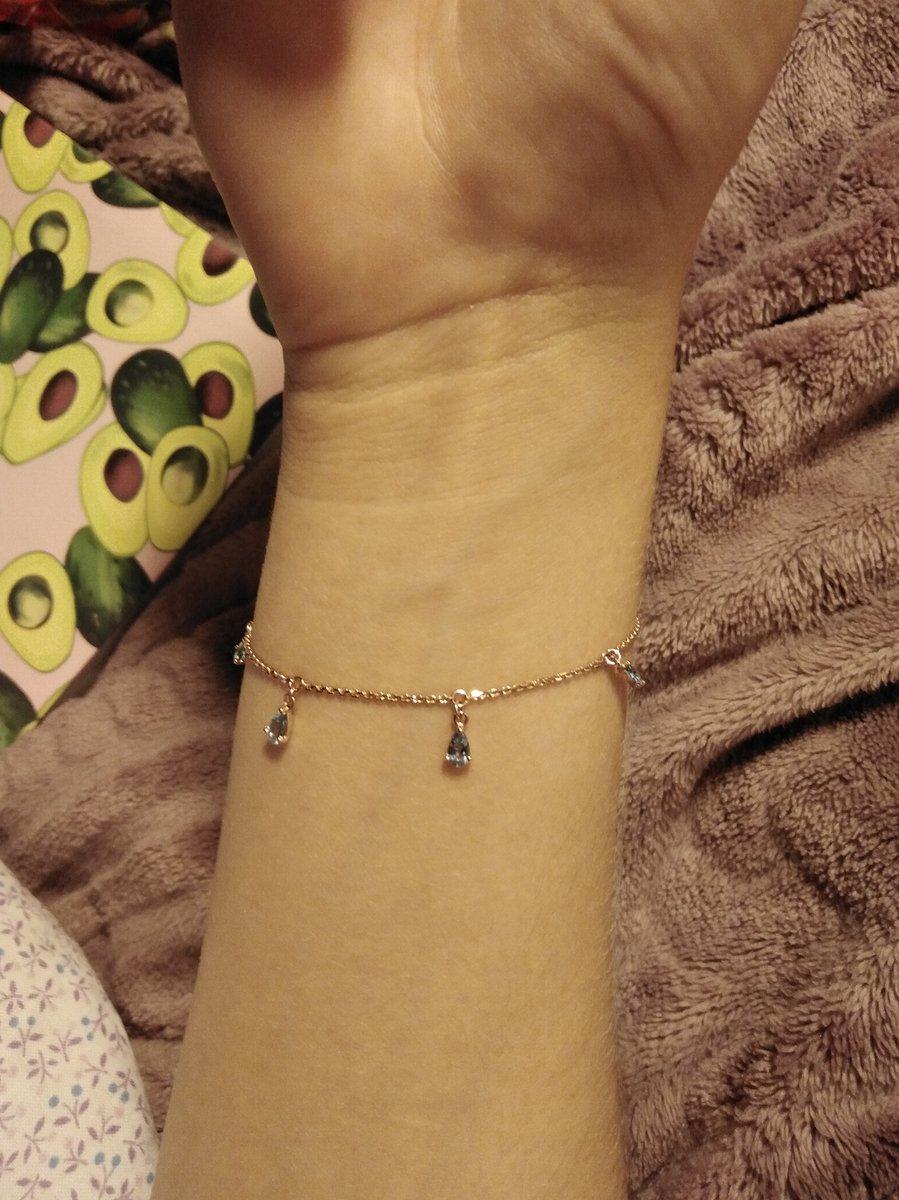 Золотой браслет с топазами